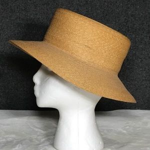 Patricia Underwood broad brimmed straw hat